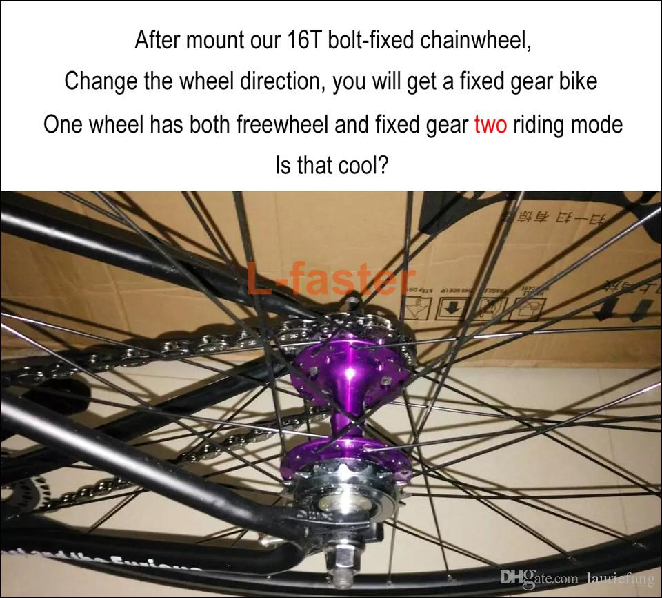 16T Fixed Gear For Bicycle Disc Brake Mount Bolts-fixed Chain Wheel 6 Screw Disc Hub Convert To Fix Gear Single Speed Fixed Cog
