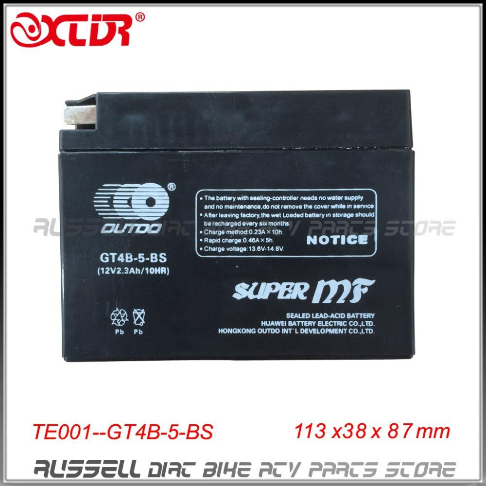 Gt4b 5 Bs Yt4b 5mf Motorcycle Battery For Yamaha Sr400 Ttr50 Monitor Suzuki Dr Z70 12v 23ah Only Sale To Usa Au Free Shipping