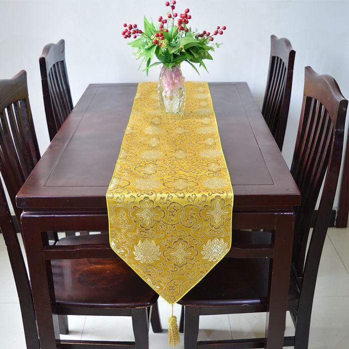 여분의 긴 120 인치 럭셔리 디너 파티 테이블 러너 빈티지 다마 인쇄 하이 엔드 장식 테이블 천 여러 가지 빛깔의