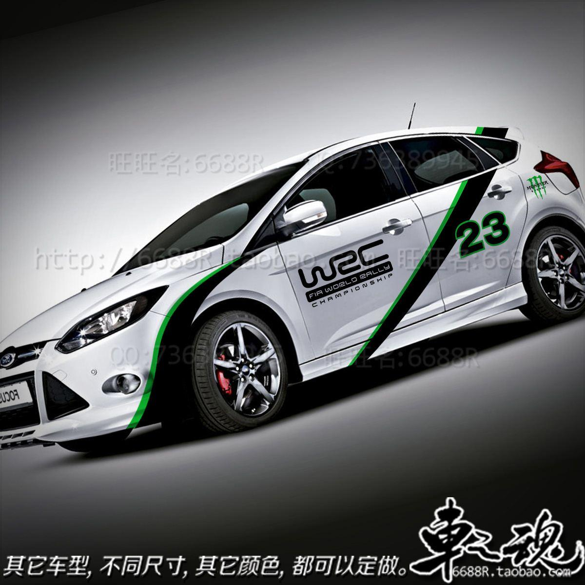 The New Ford Focus Wrc Racing Vehicle Stickers Car Stickers