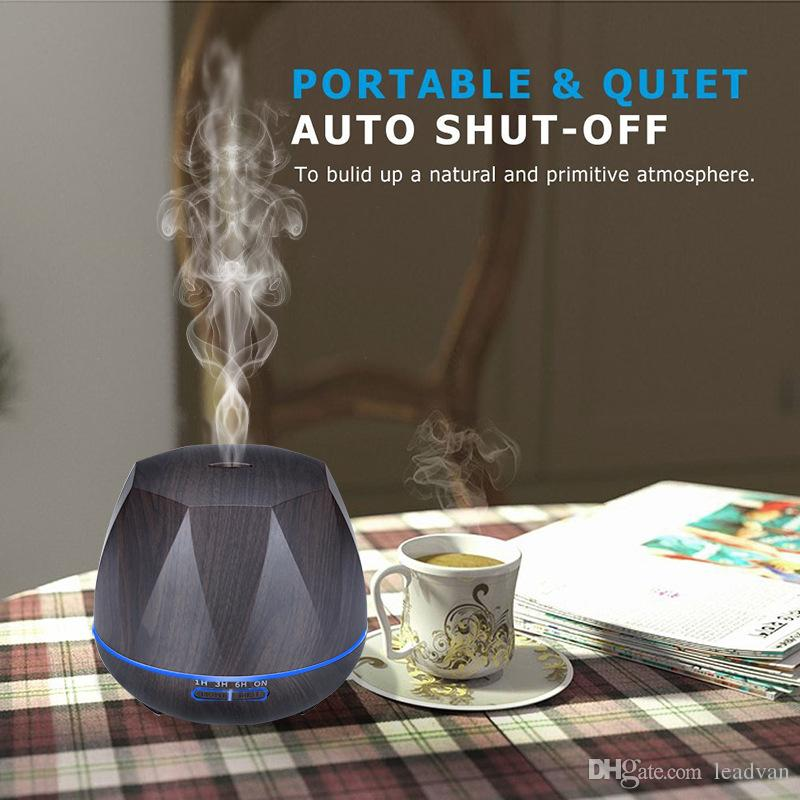 550ml Large Capacity Air Humidifier Essential Oil Diffuser Ultrasonic Cool Mist Humidifier LED Light for Office Home Bedroom Living Room