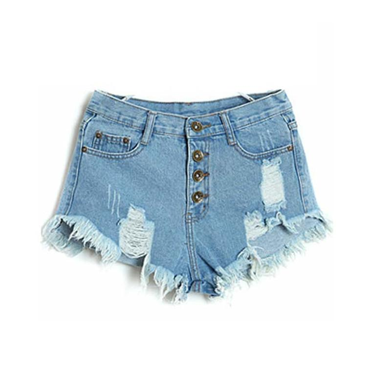 ada9f1646f1f Hot Sale 2015 Denim Women Shorts Sexy Summer Hole Destroyed Shorts ...
