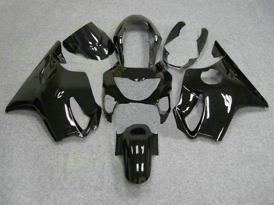 Carene motociclistiche nere lucide + 7Gift Honda 99 00 CBR600 F4 kit carrozzeria CBR 600 F4 1999 2000 kit carena VOZY