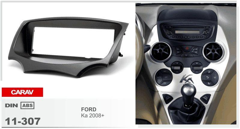 carav11 307 car radio facia for ford ka 2008 stereo fascia dash cd trim installation kit car. Black Bedroom Furniture Sets. Home Design Ideas
