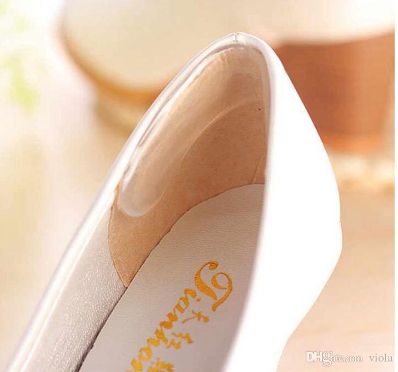 auto-adesiva Palmilhas de calcanhar Gel de silicone Almofada anti-derrapante Almofada de calcanhar Palmilha Cuidados com os pés Almofada de calcanhar Protector Relief Gel Aperto de calcanhar