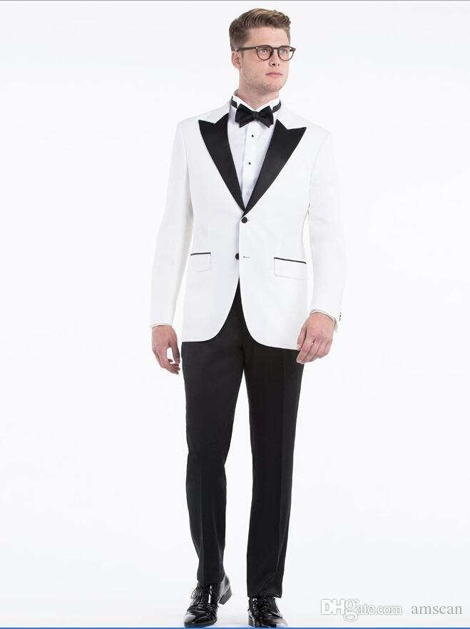 Custom Made White Groom Tuxedos 2018 Cheap Fashion Wedding Suits For ...