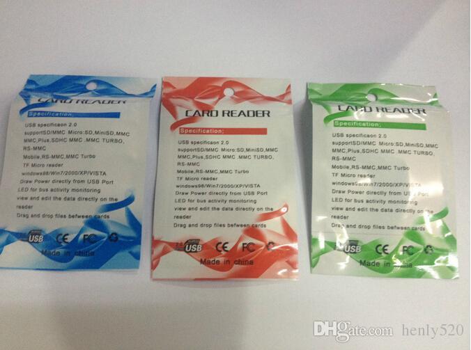 Al por mayor - envío gratis de alta velocidad USB 2.0 Micro SD T-Flash TF M2 lector de tarjetas de memoria adaptador 32 gb