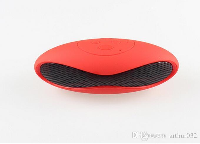 Free DHL Mini Portable Wireless Bluetooth Mini-X6U X6 Rugby Football Stereo Speaker X6U Car Handsfree With MIC TF/AUX/USB/FM Card MP3 Player