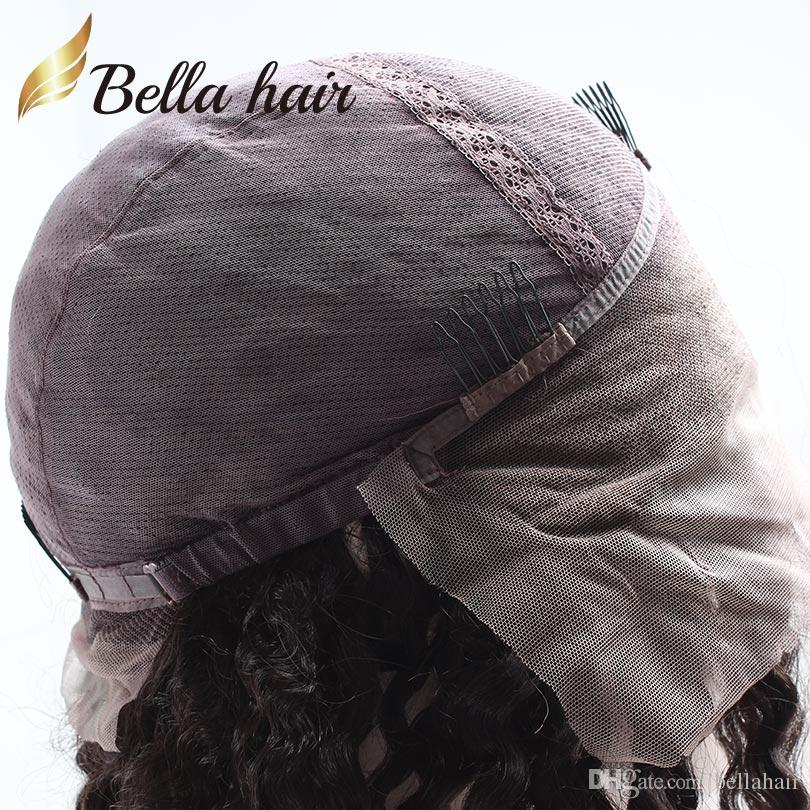 Brazilian Human Hair Wigs Virgin Unprocessed Full Lace Wigs For Black Women Big Curly Wavy Hair Wigs Medium Cap Natural Color