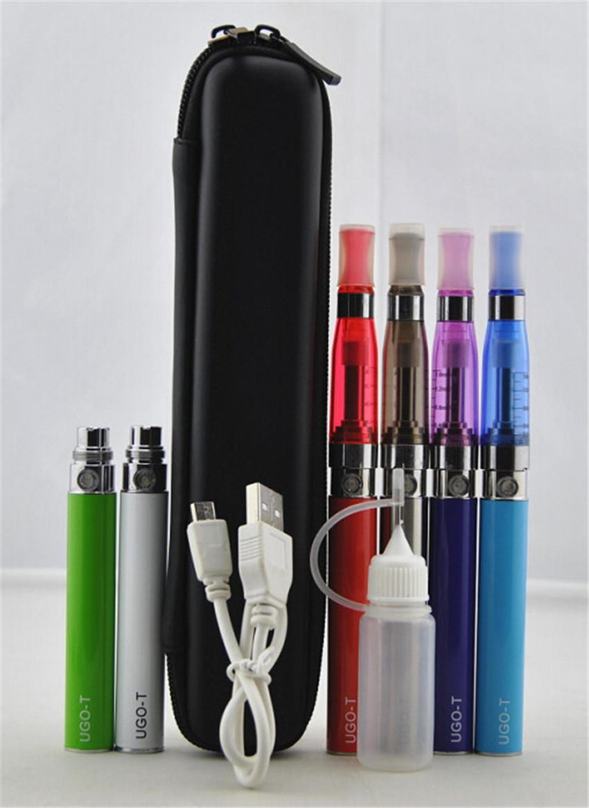 e cigarros CE4 eGo zipper caso único kit CE5 Atomizador Clearomizer ugo t 650 mah 900 mah 1100 mah passthrough bateria eletrônico cigarro