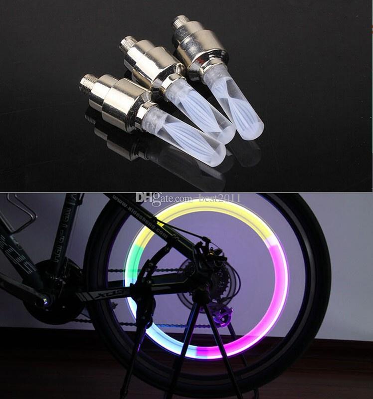 luzes Da Bicicleta Da Estrada Da Montanha de Bicicleta Luz Luzes LEDS Pneu Válvula Tampas Da Válvula de Raios Da Roda LEVOU Luz 7 cor Auto Lâmpada Lâmpadas
