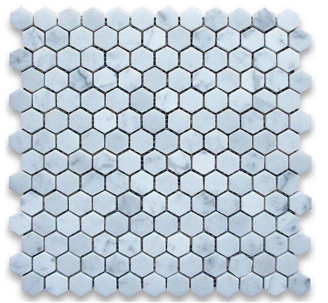 1 дюймовая плитка Италия Bianco carrarra белая мраморная плитка шестиугольная мозаика плитка настенная сетка мраморная плитка долго последняя красота мода декор для дома
