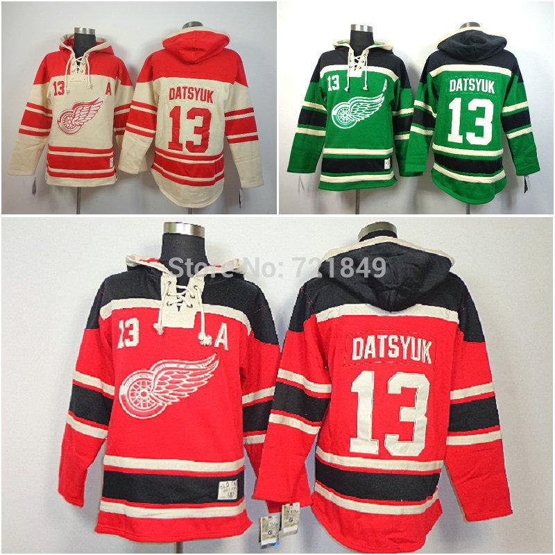 b51f0ce9b96 2019 New Detroit Red Wings Hoody 13 Pavel Datsyuk Hooded Jersey Old Time  Hockey Hoodies Sweatshirts M 2XL From Cn Sell