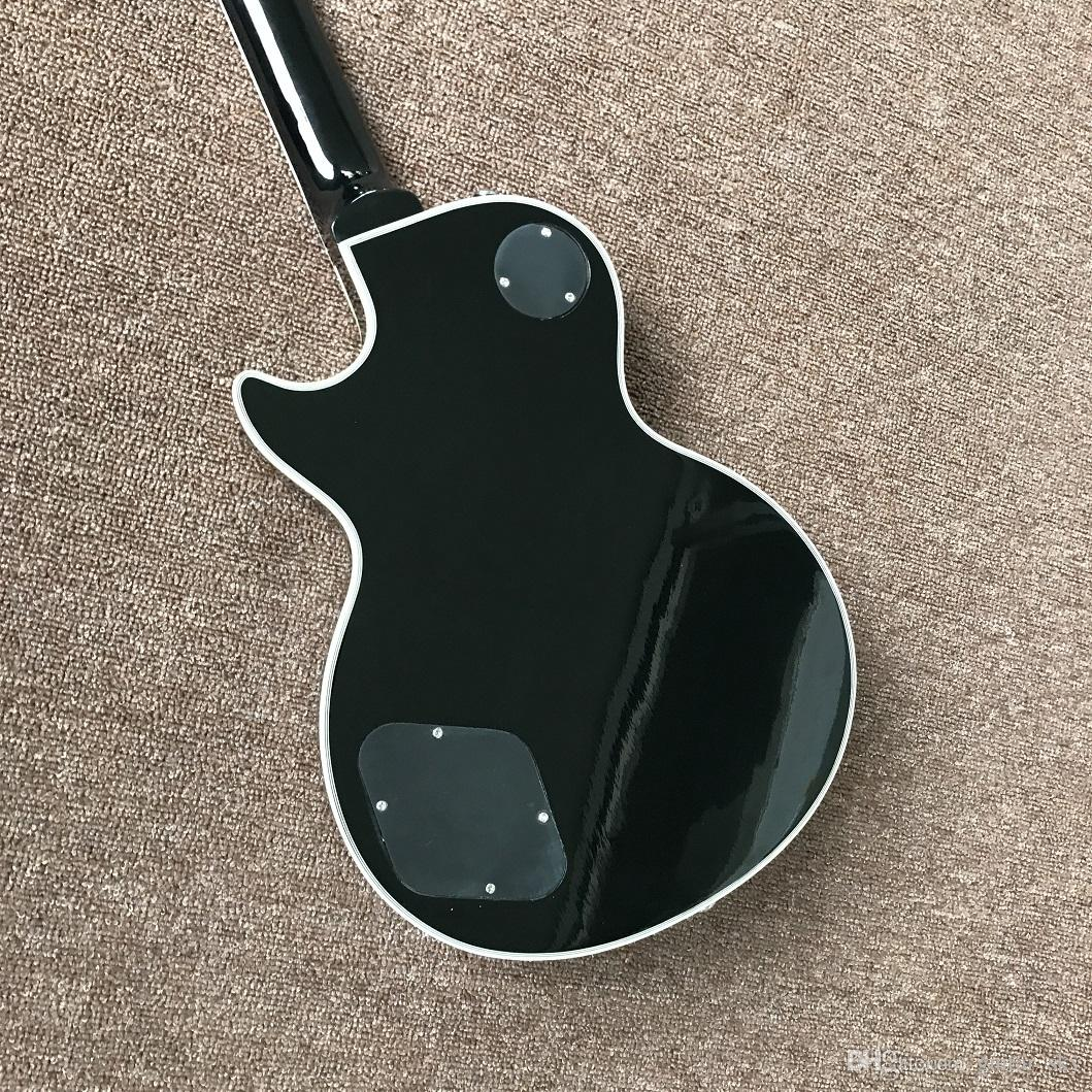 New Black Burst Color Custom Shop Guitar elettrico con hardware cromato, alta qualità vendita calda Guitarra cinese