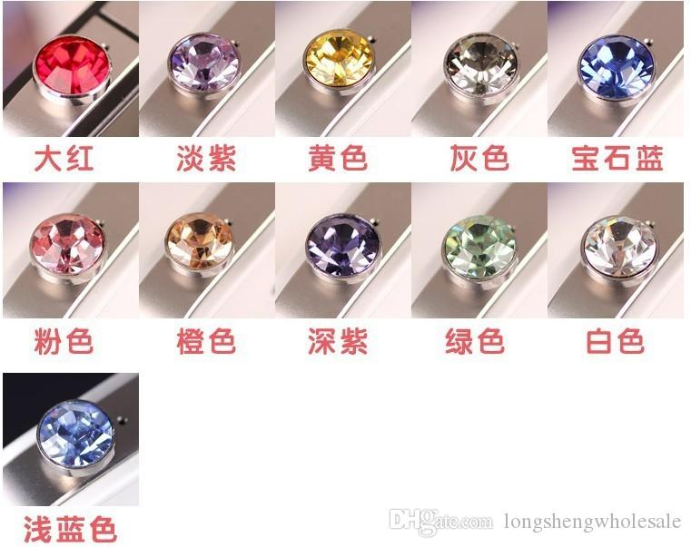 2000 unids / lote accesorios de teléfono de lujo pequeño diamante Rhinestone 3.5 mm enchufe del polvo enchufe del auricular para teléfono inteligente android ventas por mayor
