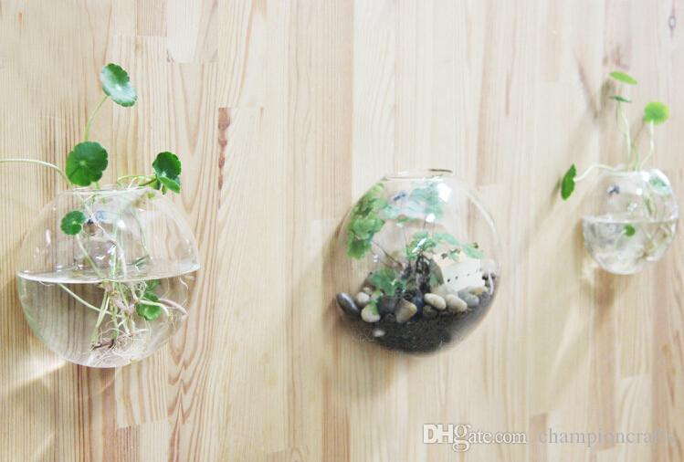 Clear Glass Wall Planter Flower Vase Diy Wall Succulent Terrarium