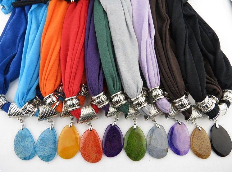 2015 горячий кулон шарф ювелирные изделия женщины нагрудник воротник шарф мода натуральный многоцветный агат кулон шарф ювелирные аксессуары шарф ЛД