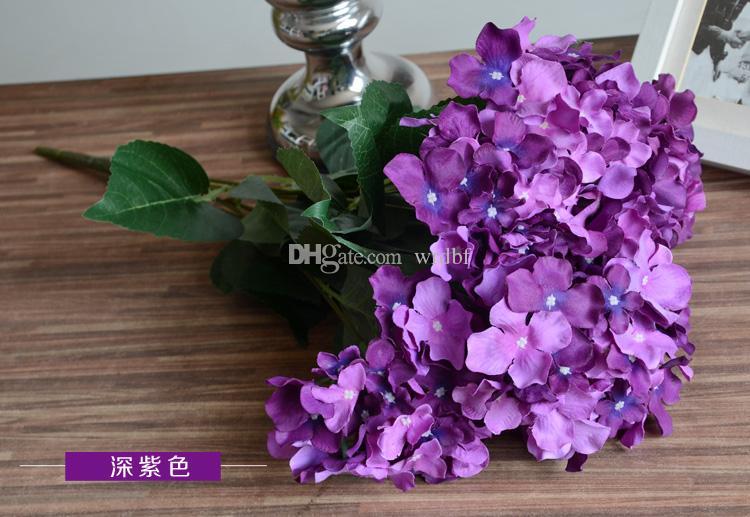 51cm Silk Hydrangea Flower Bunch Fake Flowers Hydrangeas Seven Heads for Wedding Party Home Artificial Decorative Flowers Centerpieces