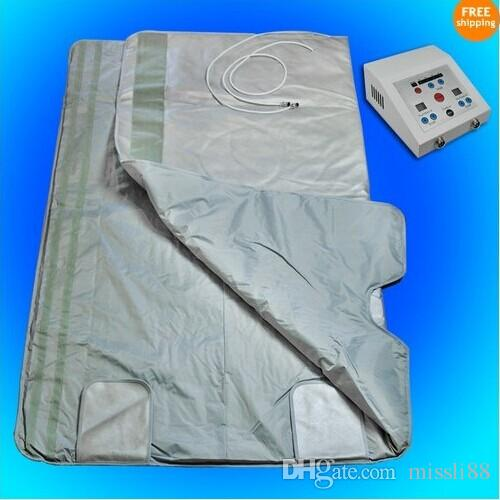 New model 2 Zone detox Therapy FIR FAR INFRARED BODY SLIMMING SAUNA BLANKET SPA WEIGHT LOSS
