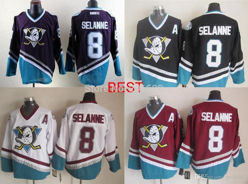 a8f63d9f ... australia online cheap anaheim ducks 8 teemu selanne jersey mens hockey  throwback ccm jersey mighty meilunna