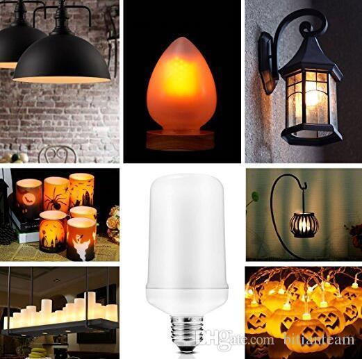 E27 2835SMD 8W 3 mod Noel Cadılar Bayramı Dekorasyon için Alev Etkisi Yangın Ampuller Titrek Emülasyon Dekoratif Alev Lambaları LED