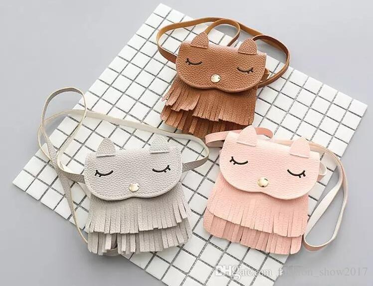 Carino bambini borsa della moneta Bambine coniglio Borse Messenger neonate Cat Messenger Borse Decorazione animale di modo Borse Regali