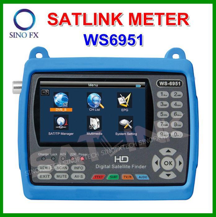 Original Satlink Ws Dvb S Hd Satellite Finder Inch Lcd - Hd satellite images