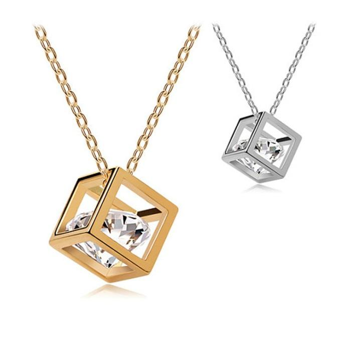 Wholesale new small accessories magic cube necklace short design wholesale new small accessories magic cube necklace short design chain gold necklaces pendants sliver necklaces zircon inside white gold pendant necklace aloadofball Image collections