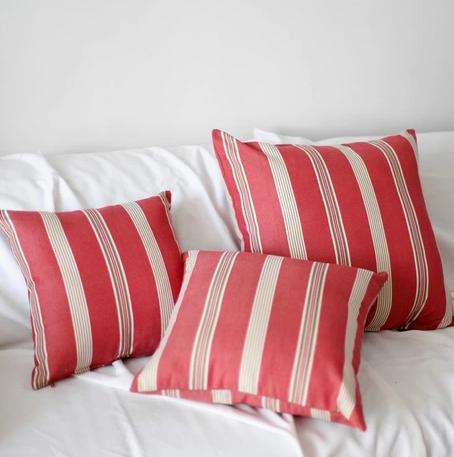 Multi Colour Striped Sofa Fabric Cushion Pillow No Core Office Cushion Set  Ofhead Stripe 100% Cotton Big Replacement Patio Cushions Replacement  Cushions For ...