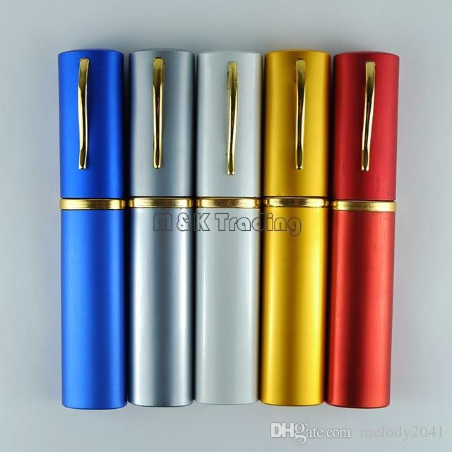 Venta caliente tubo de lectura gafas de lectura de metal con pluma clic lectura gafas 50 unids / lote envío gratis