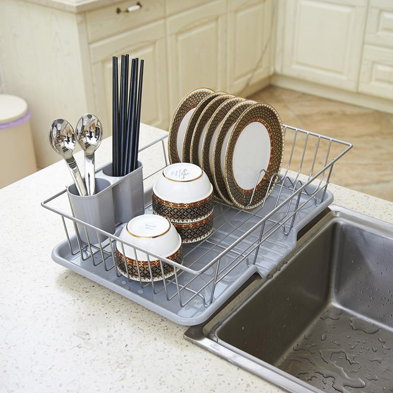 Charming Drain Rack Dish Rack Special Stainless Steel Large Kitchen Dish Rack  Shelving Rack Lek Put The Dishes Dry Dish Rack Uses Of Kitchen Knives World  Best ...