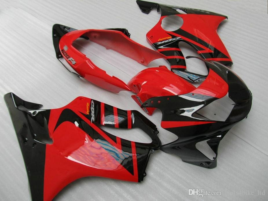Funzione Red Black Style Body Parts Honda CBR 600 F4 carens personalizzato 1999 2000 CBR600 F4 99 00 Kit carenatura Bosc
