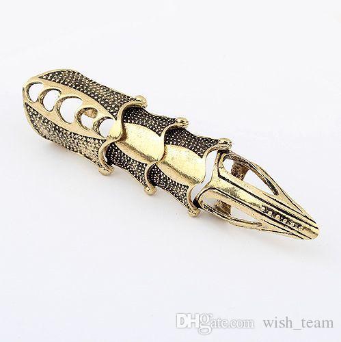Горячие продажи унисекс панк кольца готический панк сустав костяшки полный палец Коготь кольцо 3 цвета ювелирные изделия W932