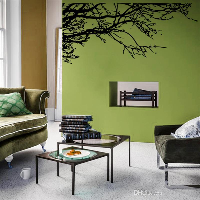 Large 83*200 cm Stunning Black Tree Branch Removable Wall Art Stickers DIY PVC Vinyl Decals Mural Home Decor Decoration