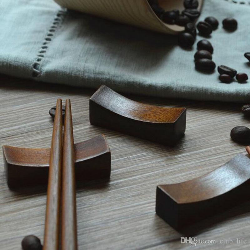 Cutlery Japanese Wooden Chopsticks Holder Burlywood Kitchen Art Dumbbell Shaped