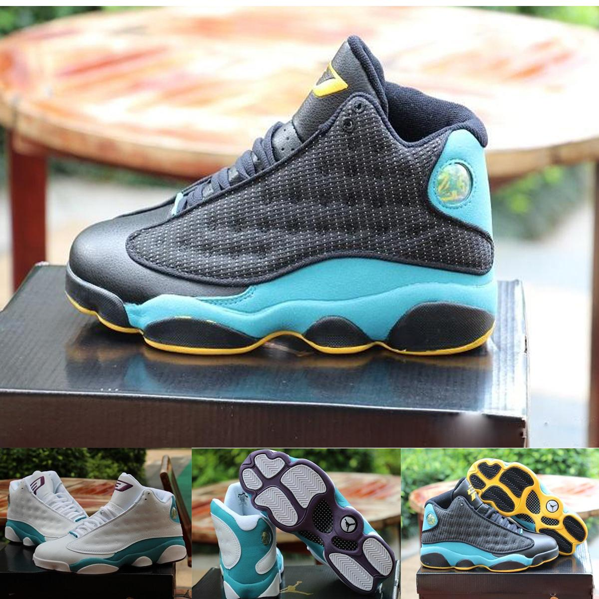 71e79b7eb8e9af Nike Air Jordan 13 Xiii Cp3 Chris Paul Sunstone Men Basketball Shoes Black  Green Yellow 823902 015 Man Sneakers Size 8 13 Cheap Shoes 4e Basketball  Shoes ...