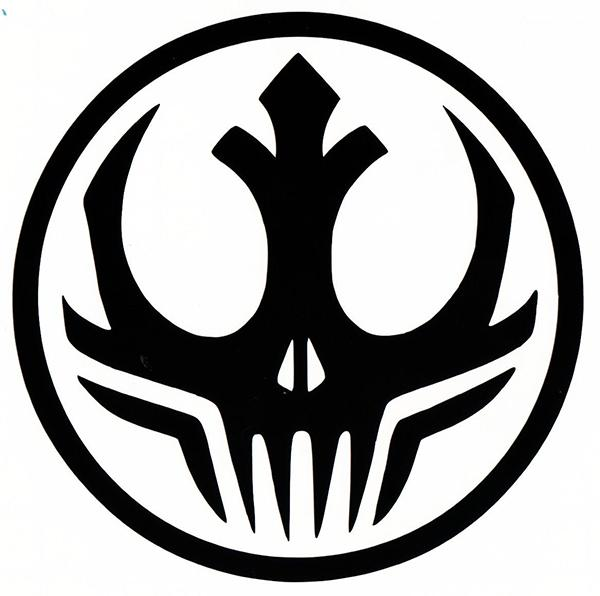Wholesale star wars dark side alliance logo symbol vinyl decal sticker car window bumper sex stickers funny decal vinyl sticker online with 33 17 piece on