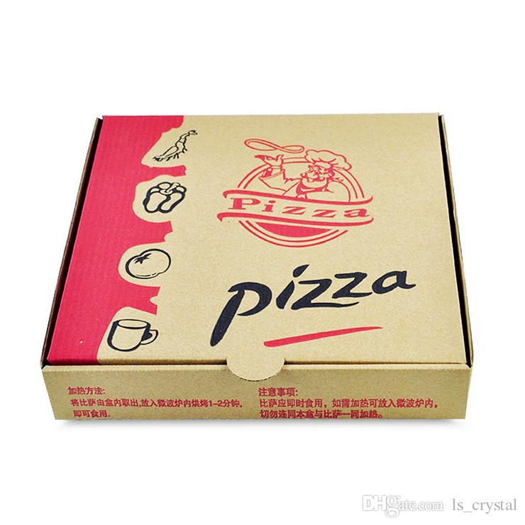 9 inches disposable kraft paper pizza box eco friendly takeaway party dessert cake box pizza. Black Bedroom Furniture Sets. Home Design Ideas