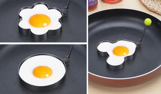 Strumenti di cottura di muffa dell'uovo dell'uovo dell'uovo dell'acciaio inossidabile Strumenti di cottura del cuore del fiore del cuore delle muffe del pancake