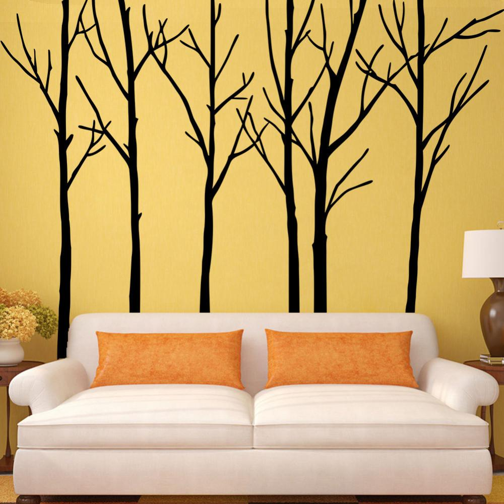 creative big trees australia forest removable wall art stickers  - creative big trees australia forest removable wall art stickers pvcwallpaper decals for living room bedroom home decoration wall cling decalswall cling