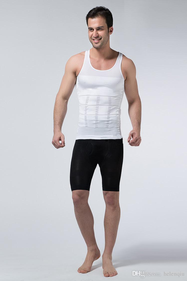 En gros Hommes Slim Moisture Minus Le Ventre De La Bière Façonnant Sous-Vêtements Abdomen Body Sculpting Gil Shapers Body Sculpting T-shirt Body Shaper