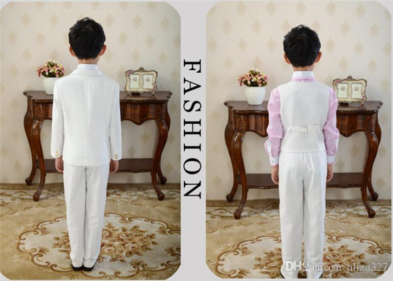 Little boys formal occasion suits three-piece boys suits for wedding fashion two button boys suits tuxedosjacket+pants+vest