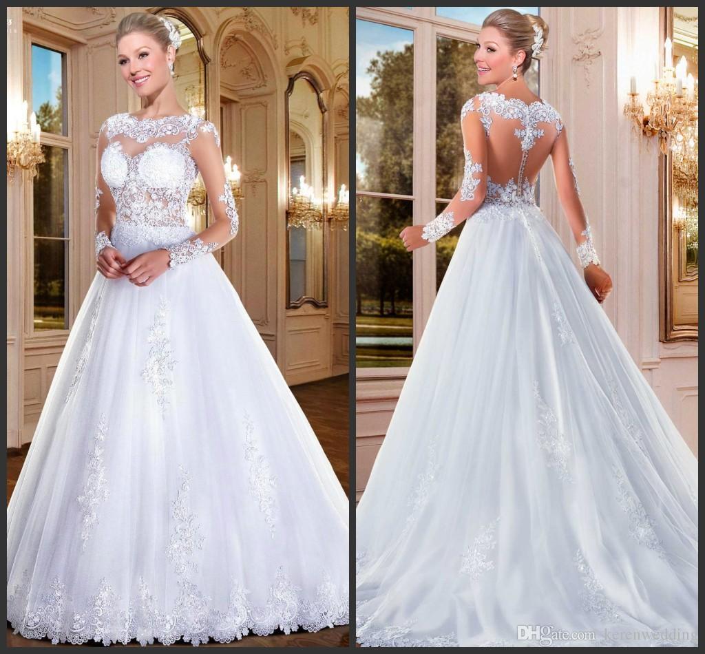 Discount White A Line Versalhes Wedding Dresses KR 2016