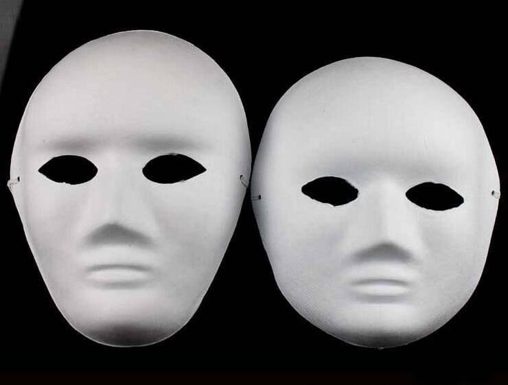 Satın Al Promosyon Fiyat El Boyalı Boyama Maske Diy Beyaz Yüz Hamuru