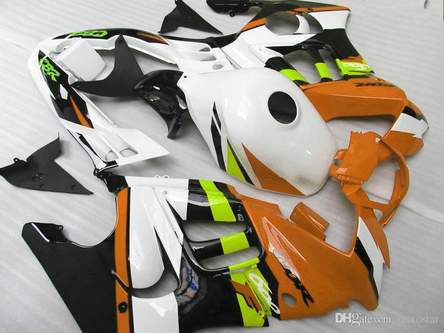 Full fit for HONDA F3 fairings CBR600 1997 1998 CBR 600 97 98 yellow white black fairing body kit QY90