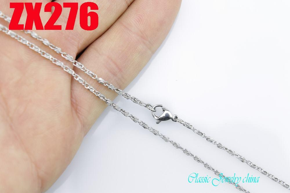 410-860mm stainless steel 1.5mm fashion chain Jewelry women female sweater necklace ZX276