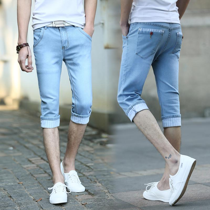 Best 2015 New Arrival Slim Denim Shorts Mens Capris Jeans Summer ...