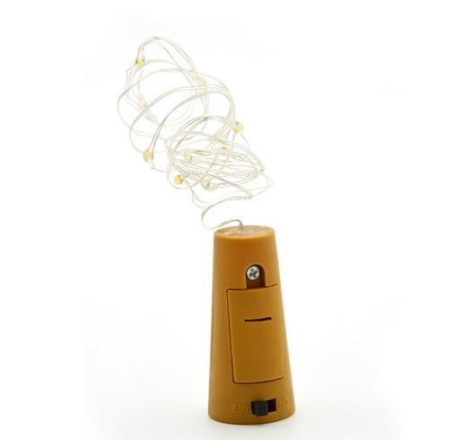 Hot 1M 10LED 2M 20LED Lamp Cork Shaped Bottle Stopper Light Glass Wine LED Copper Wire String Lights For Xmas Party Wedding