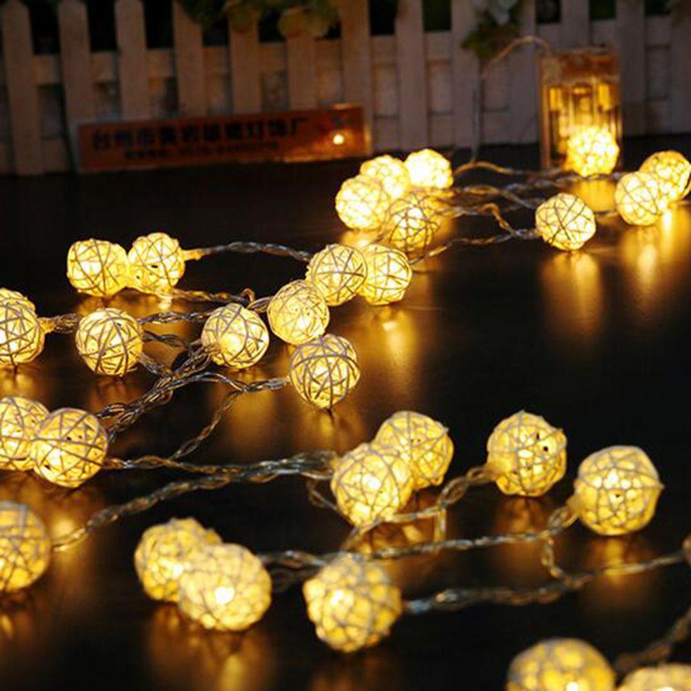 Wholesale- Warm White Fairy Light Holiday Light Rattan Ball LED ...