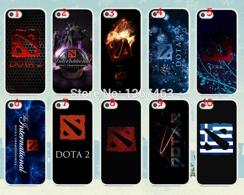hot dota 2 logo hard white case cover for iphone 4 4g 4s wholesale